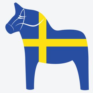 Dalarna Pferd cut print service aufkleber aufkleber dala pferd schweden