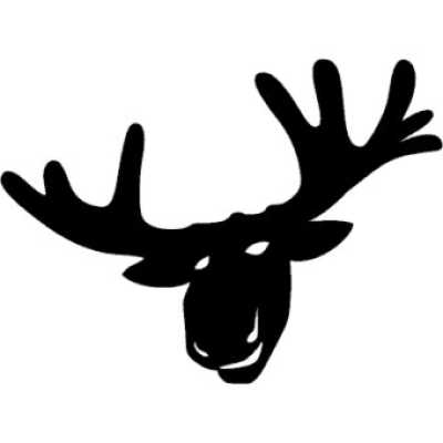 Sticker moose head