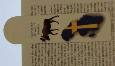 Aluminum Bookmark Severige Moose 32 x 128 mm